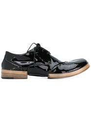 Marsell Lace Up Shoes Women Leather Patent Leather Rubber 40 Black