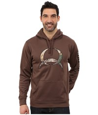 Cinch Pullover Hoodie Brown Men's Sweatshirt