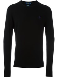Polo Ralph Lauren Embroidered Logo Jumper Black