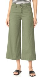 Baldwin Denim Devin Mid Rise Cropped Trousers Sage