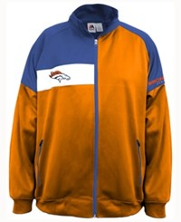Majestic Men's Denver Broncos Court Track Jacket Navy Orange White