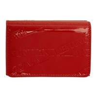 Balenciaga Red Mini Ville Wallet