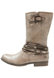 Mustang Cowboy Biker Boots Taupe