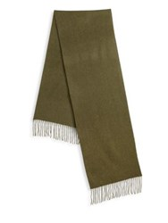 Saks Fifth Avenue Collection Solid Woven Cashmere Scarf Forest