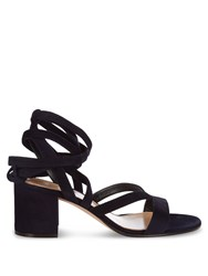 Gianvito Rossi Janis Suede Sandals Navy