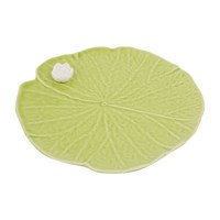 Bordallo Pinheiro Leaf With Flower Plate Medium