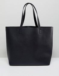 Qupid Minimal Tote Bag Black