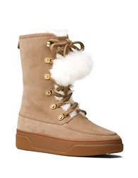 Michael Michael Kors Juno Faux Fur Trim Cold Weather Ankle Boots Dark Khaki