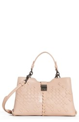 Bottega Veneta Small Napoli Top Handle Satchel Pink Peach Rose