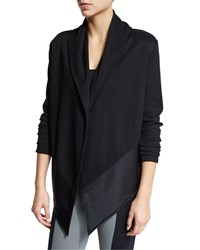 Live The Process Shawl Collar Blanket Sweater Winter Black