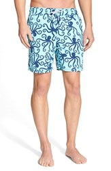 Tom And Teddy Men's 'Octopus Pattern' Swim Trunks Nautical Blue