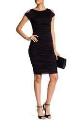 Bailey 44 Sleeveless Ruched Dress Black
