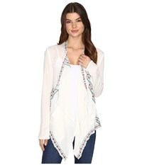 Rock And Roll Cowgirl Long Sleeve Cardigan B4 9116 Natural Women's Sweater Beige