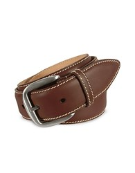 Manieri Men's Dark Brown Smooth Leather Belt