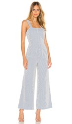 Rolla's Sailor Stripe Jumpsuit In Blue. Blue And White