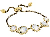 Kendra Scott Jodie Bracelet Antique Brass Clear Iridescent Glass Bracelet Gold