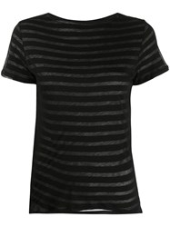 Majestic Filatures Layered Stripe Cotton T Shirt 60
