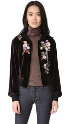 Nanette Lepore Aviary Bomber Jacket Wine Multi