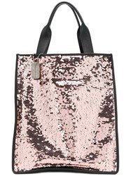Faith Connexion Sequinned Tote Bag Pink