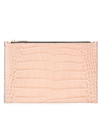 Victoria Beckham Small Simple Embossed Leather Pouch Neutrals