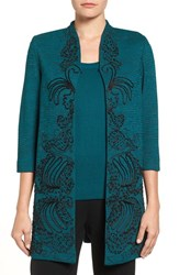 Ming Wang Women's Embroidered Long Jacket