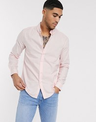 Soul Star Oxford Shirt In Pink