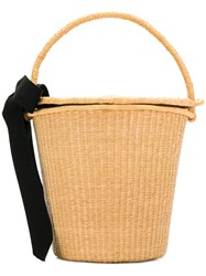Sensi Studio Bow Bucket Tote Nude And Neutrals