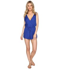 O'neill Danika Romper Cover Up Tahitian Blue Women's Jumpsuit And Rompers One Piece