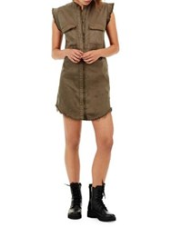 True Religion Distressed Military Dress Military Green