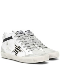 Golden Goose Mid Star Leather Sneakers White