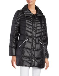 Karl Lagerfeld Packable Mid Length Puffer Down Coat Black