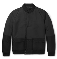 Balenciaga Shell And Twill Bomber Jacket Black