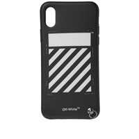 Off White Diagonals Iphone X Cover With Strap Black