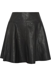 Joie Andrina Leather Mini Skirt Black