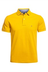 Tommy Hilfiger Short Sleeve Knit Top Mustard Yellow