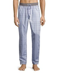 Hanro Harvey Plaid Woven Lounge Pants Light Gray