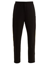 Acne Studios Norwich Face Side Stripe Jersey Track Pants Black