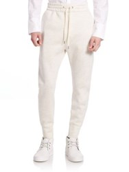 Helmut Lang Curved Leg Track Pants Sand Heather