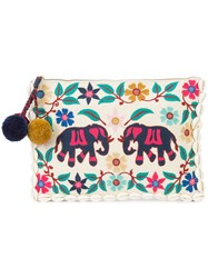 Figue Elephant Garden Clutch White