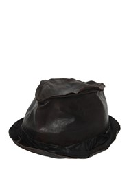 Move Vintage Effect Smooth Leather Hat