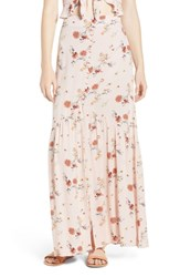 Lost Wander Rosa Floral Maxi Skirt Pink Floral