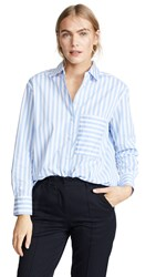 Ayr The Deep End Button Down Shirt Blue White