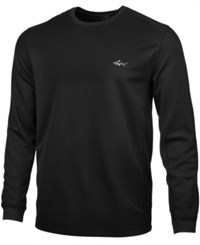 Greg Norman For Tasso Elba Colorblocked Thermal Shirt Only At Macy's Deep Black