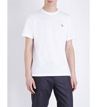 Paul Smith Ps By Zebra Cotton Jersey T Shirt White