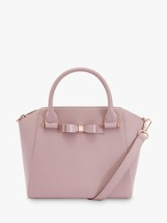 Ted Baker Jaelynn Bow Leather Tote Bag Light Pink