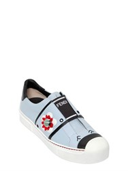 Fendi 20Mm Floral Leather Slip On Sneakers