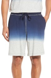 Daniel Buchler Men's Dip Dye Lounge Shorts Navy