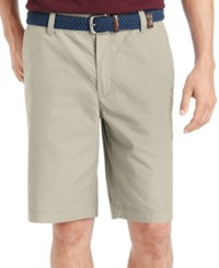 Izod Saltwater Flat Front Shorts High Rise