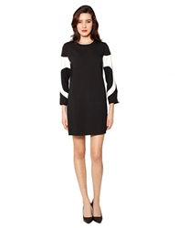 Raoul Bonnie Bell Sleeve Dress Black Ivory