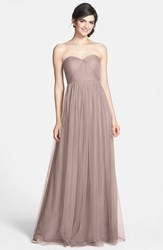 Jenny Yoo Women's 'Annabelle' Convertible Tulle Column Dress Vintage Iris